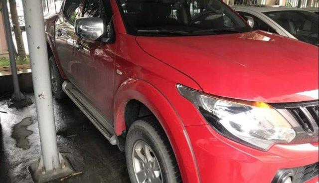 Bán ô tô Mitsubishi Triton 4x2 AT đời 2017, màu đỏ, nhập khẩu chính chủ