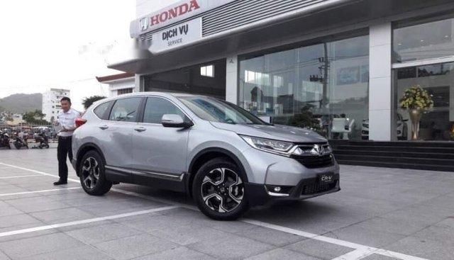 Bán xe Honda CR V đời 2019, màu bạc, xe nhập