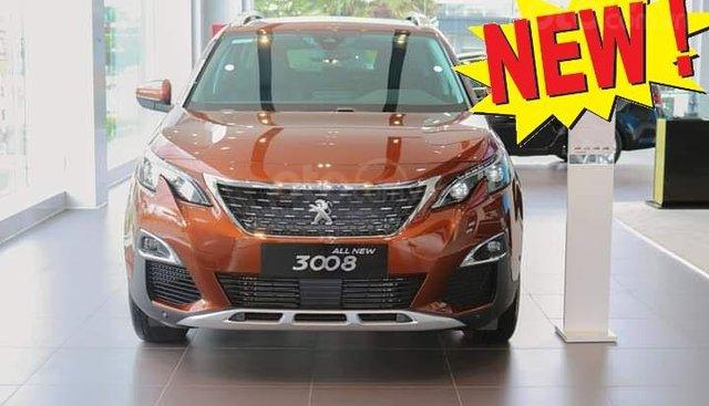 Bán SUV 5 chỗ gầm cao Peugeot 3008 1.6L turbo 2019, màu cam, giá tốt xin gọi 0909076622 Ms. Hà-P.KD
