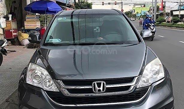 Bán Honda CR V 2.4 AT đời 2012, màu xám