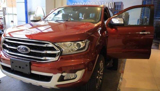 Bán Ford Everest sản xuất 2018, màu đỏ, nhập khẩu