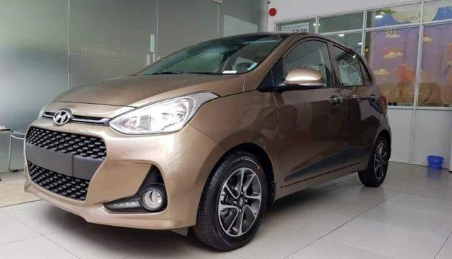 Bán ô tô Hyundai Grand i10 năm sản xuất 2019, màu nâu giá cạnh tranh