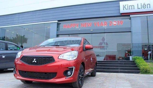 Mitsubishi Attrage MT sản xuất 2019, màu đỏ, nhập khẩu