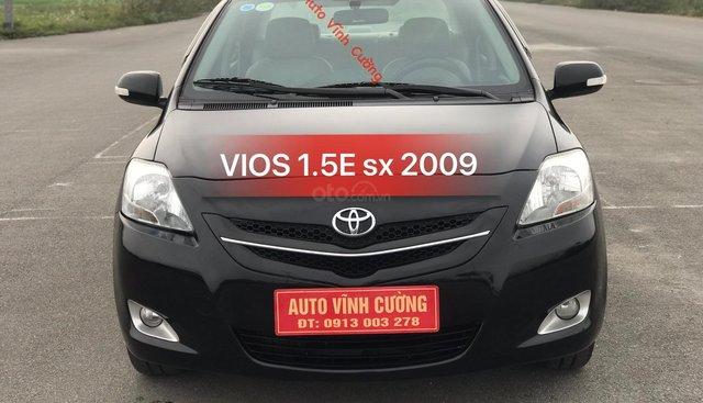 Bán xe Toyota Vios 1.5E MT đời 2009, màu đen