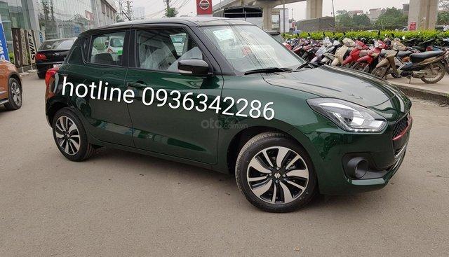 Bán Suzuki Swift 2019 màu xanh rêu, phong cách hiện đại và trẻ trung, giá tốt, nhiều khuyến mại, liên hệ 0936342286