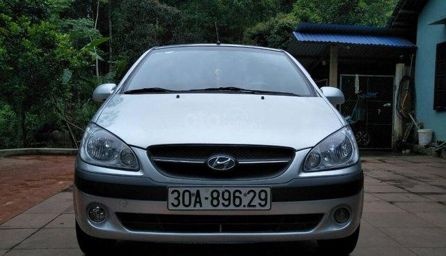 Bán Hyundai Getz đời 2009 nhập khẩu số sàn, Hyundai Getz màu bạc tại Hải Phòng
