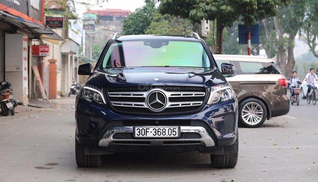 Bán xe Mercedes GLS400 năm sản xuất 2017, màu xanh, nhập cavasite khẩu nguyên chiếc