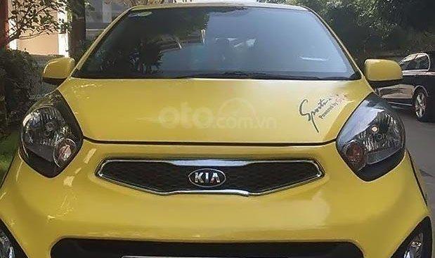 Cần bán xe Kia Morning sản xuất 2013, màu vàng xe gia đình