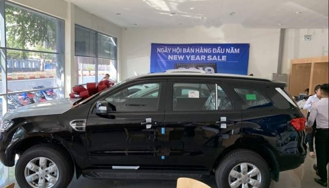 Bán xe Ford Everest Ambient AT sản xuất 2019, màu đen, nhập khẩu