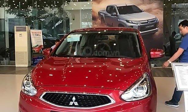 Bán xe Mitsubishi Mirage AT sản xuất năm 2019, màu đỏ, xe nhập