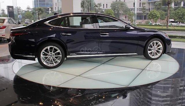 Bán xe Lexus LS 500h năm sản xuất 2018, màu xanh lam, xe nhập