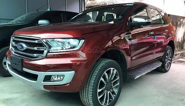 Bán xe Ford Everest Titanium 2019, màu đỏ, nhập khẩu nguyên chiếc