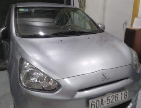 Bán Mitsubishi Mirage đời 2015, màu bạc, nhập khẩu, số sàn