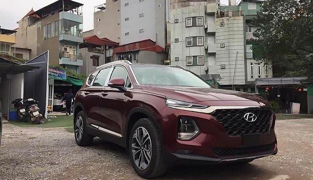 Bán ô tô Hyundai Santa Fe đời 2019, màu đỏ