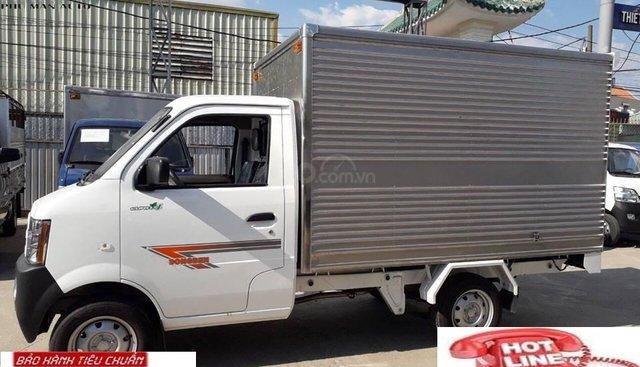 Bán xe tải nhỏ Dongben thùng kín 770kg , KT thùng dài 2.450