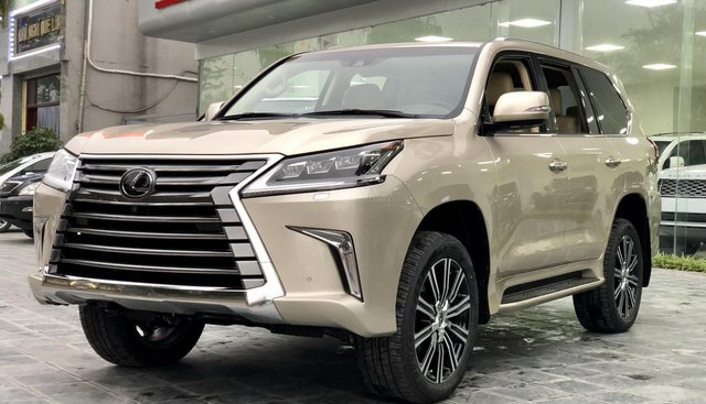 Bán Lexus LX 570 sx 2019 nhập Mỹ, màu vàng cát, LH em Hương 0945392468
