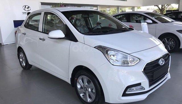 Bán Hyundai Grand i10 Sedan đời 2019, màu trắng, nhập khẩu CKD, liên hệ: 0905976950