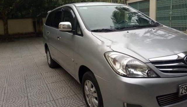 Cần bán lại xe Toyota Innova AT đời 2008, màu bạc, đăng ký 2009