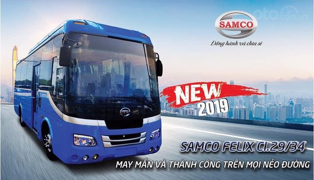 Samco Felix CI 29/34 chỗ thế hệ mới 2019