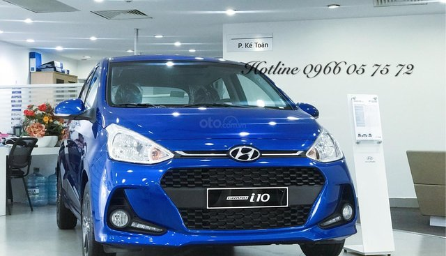 Bán Hyundai i10 1.2 số tự động, đủ màu - xe giao sớm - hỗ trợ vay thủ tục đơn giản.
