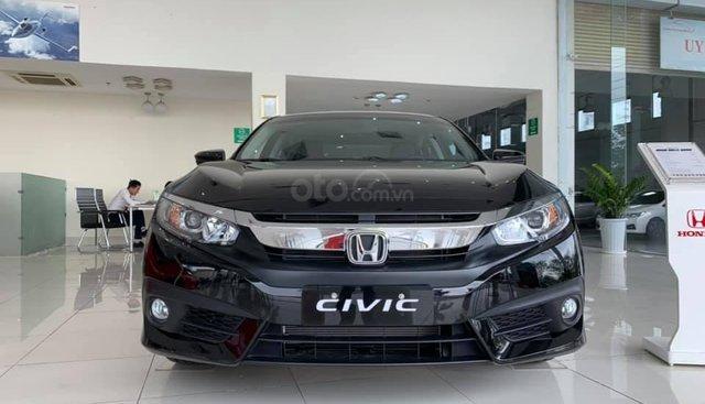 Bán Honda Civic E đen 2019 - giao ngay, ưu đãi Full phụ kiện, chỉ cần 160tr nhận xe