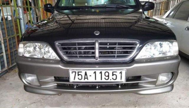 Bán Ssangyong Musso AT năm 2005, màu đen, nhập khẩu số tự động, xe đẹp nguyên bản