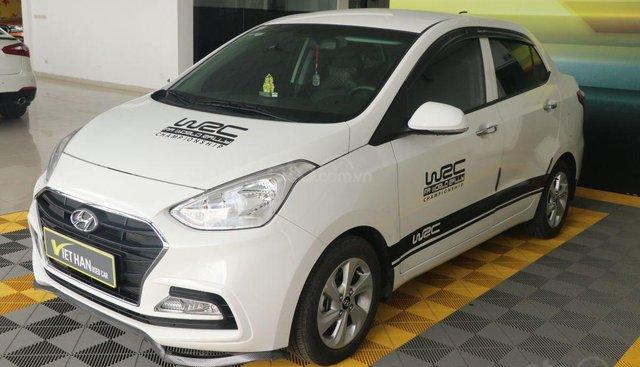 Bán xe Hyundai Grand i10 1.2AT năm sản xuất 2018, màu trắng, 418tr