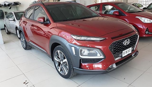 Cần bán Hyundai Kona 1.6 Turbo 2019, màu đỏ