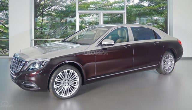 Bán Maybach Mercedes-Benz S500 màu ruby black beige, đi 39 km, nhập khẩu, mới 99%