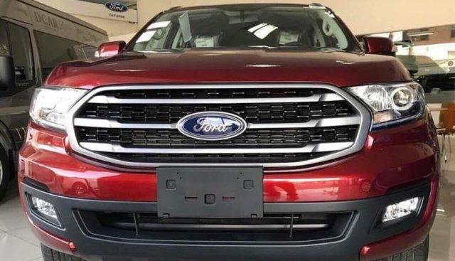 Bán xe Ford Everest 2018, màu đỏ, nhập khẩu