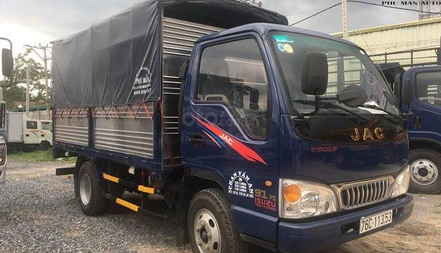 Bán JAC 2T4 hạ tải 2017, thùng bạt dài 3m7, ga cơ giá mềm