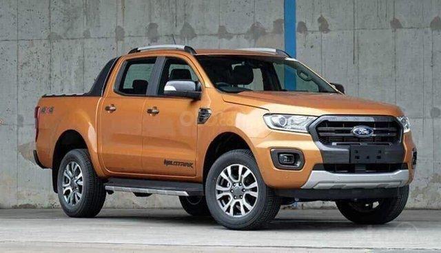 Bán Ford Ranger Wildtrak 2.0 4x4 Biturbo sản xuất 2019, màu cam, nhập khẩu