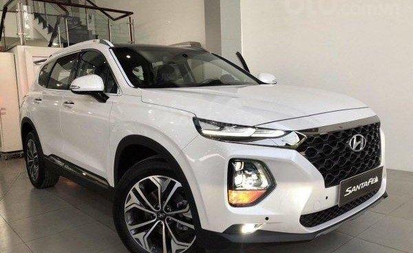 Bán Hyundai Santa Fe đời 2019, màu trắng xe có sẵn, LH Tùng 0906409199