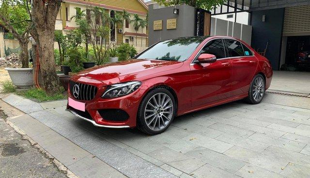 Cần tiền bán xe C300 SX 2018 màu đỏ bản AMG full option
