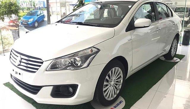 Bán xe Suzuki Ciaz 1.4 AT sản xuất năm 2018, màu trắng, nhập khẩu, giá tốt