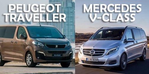 So sánh xe Mercedes V-Class 2019 và Peugeot Traveller 2019: Nên mua MPV hạng sang nào cho phải?