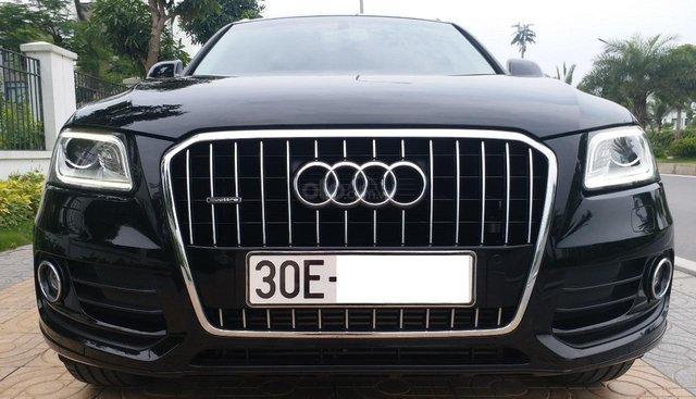 Bán Audi Q5 2.0 TFSI màu đen/nâu, sản xuất cuối 2016, nhập khẩu, đăng ký 2017, biển Hà Nội
