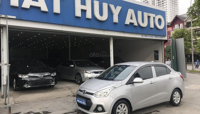 Bán ô tô Hyundai Grand i10 1.2MT sản xuất 2016, màu bạc, xe nhập