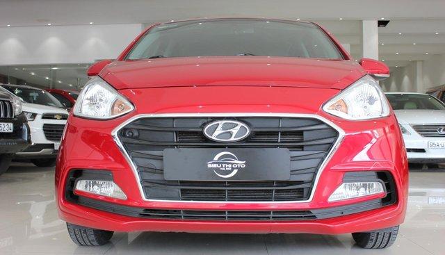 Bán Hyundai Grand i10 1.2 AT Sedan sản xuất 2017, màu đỏ, 395tr