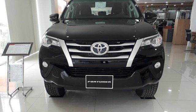 Toyota Fortuner 2.4G số sàn 2019, đưa trước 300tr giao ngay, xe có sẵn DVD 7inch, camera de