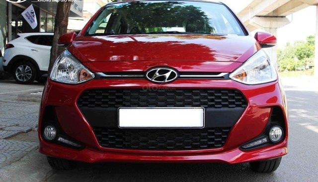 Cần bán Hyundai Grand i10 AT năm 2019, màu đỏ, trả góp 80%