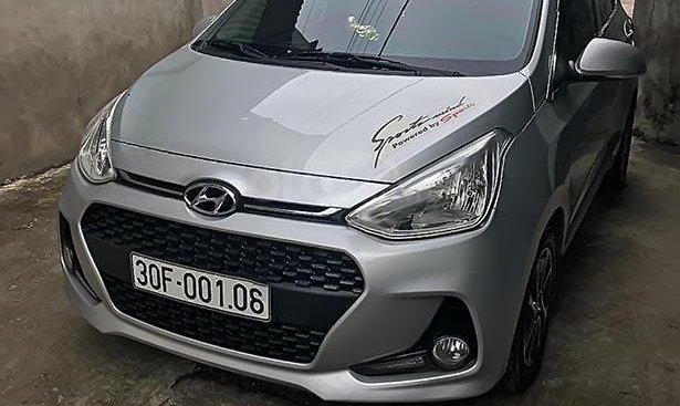 Cần bán Hyundai Grand i10 1.0 MT 2018, màu bạc, nhập khẩu, 329tr