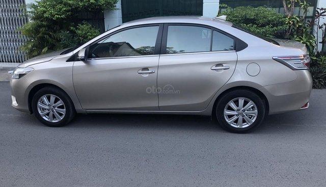 Cần bán Toyota Vios E 2017 số sàn, màu nâu vàng, biển số TP