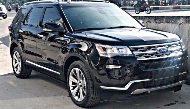 Bán Ford Explorer Limited 2019, màu đen, nhập khẩu