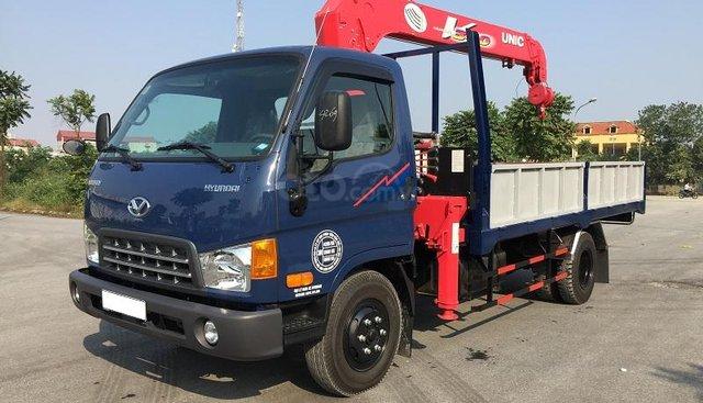 Xe tải Hyundai 110S Euro, 4 gắn cẩu Unic 3 tấn 4 đốt