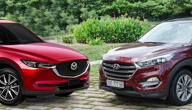 Chọn Hyundai Tucson 2019 hay Mazda CX-5 2.0L 2019 trong tầm giá 900 triệu đồng?
