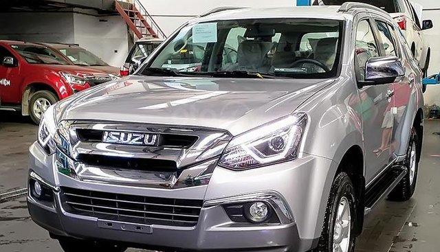 Bán Isuzu mu-X 1.9 4X2 MT sản xuất 2019, màu bạc, nhập khẩu nguyên chiếc, giá tốt
