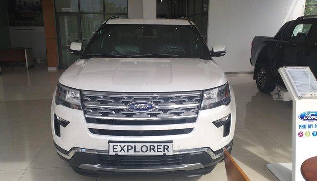 Bán xe Ford Explorer Limited năm 2019, màu trắng, xe nhập Mỹ