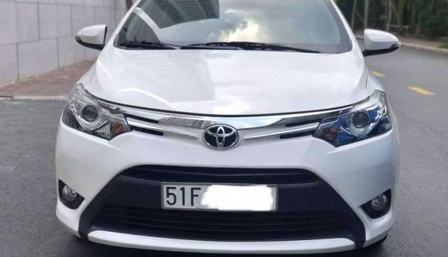 Bán xe Toyota Vios G đăng ký 08/2016 - Màu trắng - Chạy 65.000km