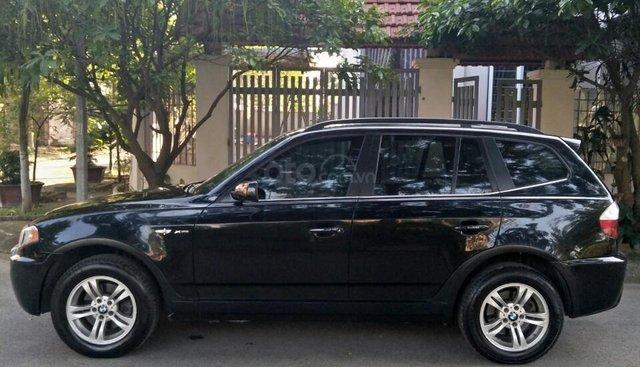 BMW X3 số tự động nhập Mỹ sx 2005, đăng ký LĐ 2007 chính chủ công chức chạy ít, nên xe còn đẹp